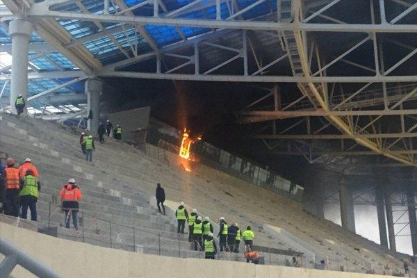 Cháy sân vận động tổ chức World Cup 2018 ở Nga - Ảnh 4.