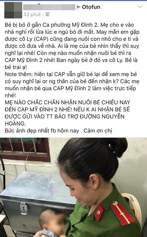 Hà Nội: Bé trai khát sữa bị mẹ bỏ rơi trong nhà nghỉ, nữ công an động lòng cho bú và đưa về nhà chăm sóc - Ảnh 1.