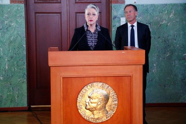 Chủ tịch Ủy ban Nobel Na Uy, bà Berit Reiss-Andersen, thông báo giải Nobel Hòa bình 2017 (Ảnh: Reuters)