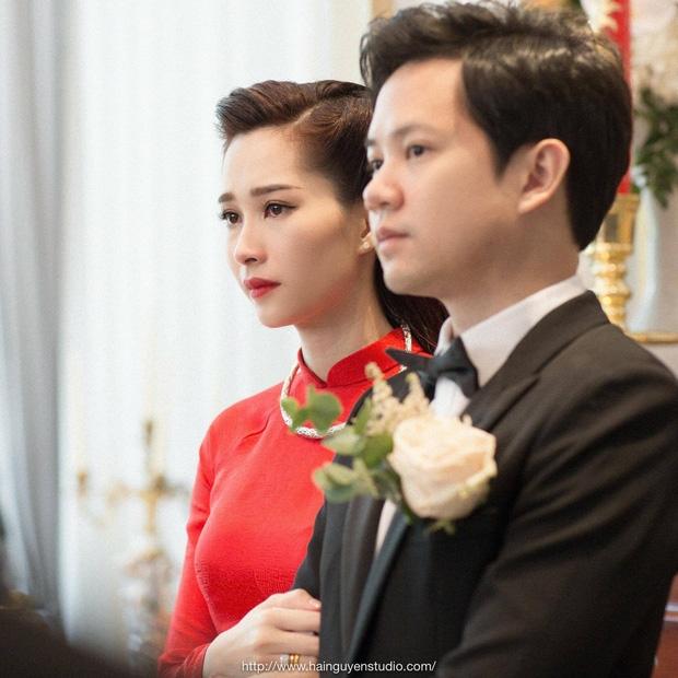 Toàn cảnh lễ rước dâu: Đặng Thu Thảo rơm rớm nước mắt bên ông xã Trung Tín - Ảnh 1.