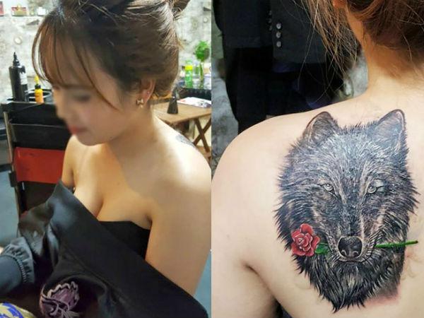 Câu chuyện bất ngờ phía sau hình xăm đầu sói ngậm hoa hồng gây bão của hotgirl Đà Lạt