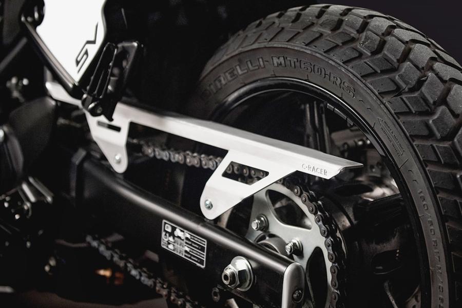 Suzuki SV650 hoi sinh theo phong cach scrambler hinh anh 7