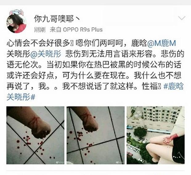 Sốc: Quá đau lòng, loạt fan cuồng người nhảy lầu, kẻ cắt tay tự sát sau khi Luhan hẹn hò với mỹ nhân 9X - Ảnh 4.
