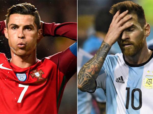 Messi và Ronaldo đều có nguy cơ vắng mặt ở World Cup 2018