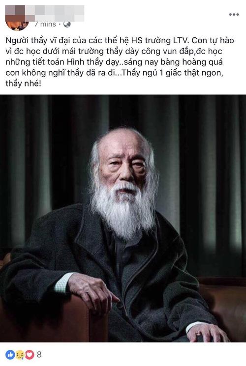Các thế hệ học trò trường Lương Thế Vinh bày tỏ niềm thương tiếc trước sự ra đi của thầy Văn Như Cương - Ảnh 1.