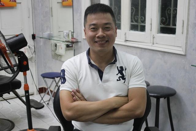 Anh Dũng - chủ nhân của ý tưởng kinh doanh độc đáo. Ảnh: Hà Trang