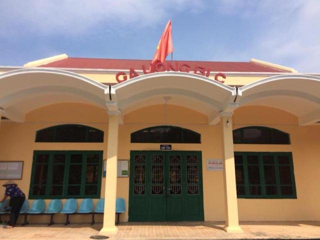 Nhà chờ khu C thuộc ga Uông Bí, nơi xảy ra sự việc. Ảnh: (Bạn đọc cung cấp)