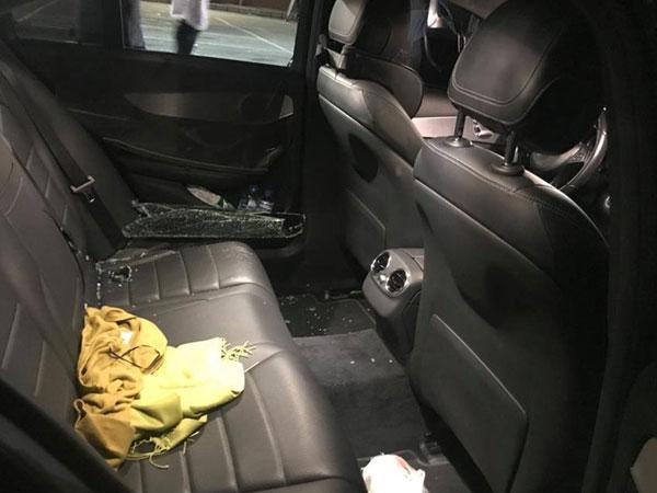 Ôtô Mercedes đậu trong bãi xe siêu thị Emart bị trộm tài sản