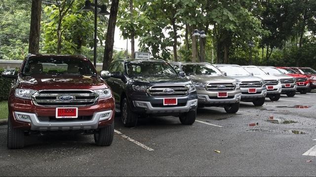 Các mẫu xe trong diện triệu hồi lần này của Ford Việt Nam đều được nhập khẩu nguyên chiếc từ Thái Lan