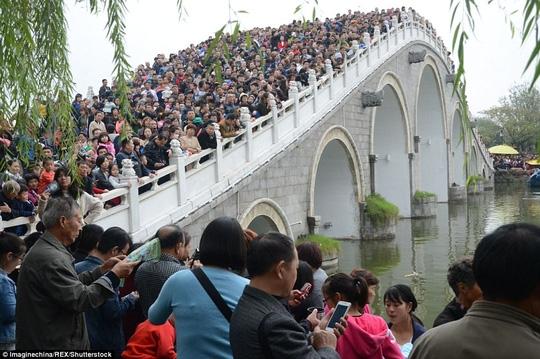 Ngộp thở cảnh dân Trung Quốc chen chúc đi du lịch - Ảnh 4.