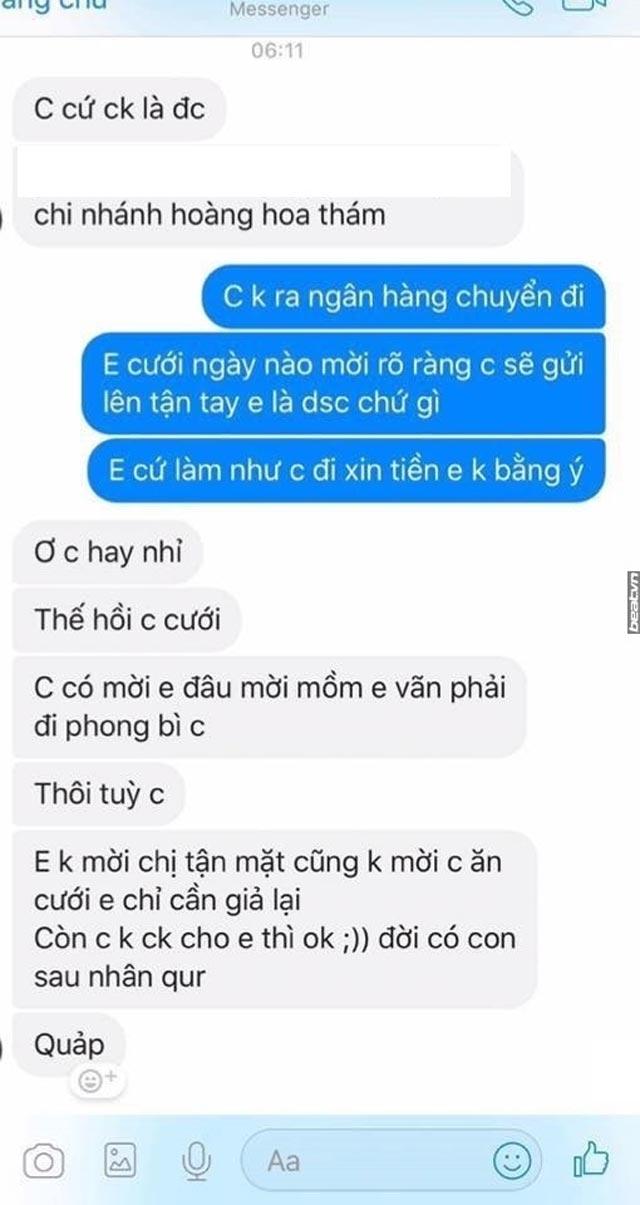 nong tren mang: khach khong di dam cuoi, co dau nhan tin doi chuyen tien mung hinh anh 3