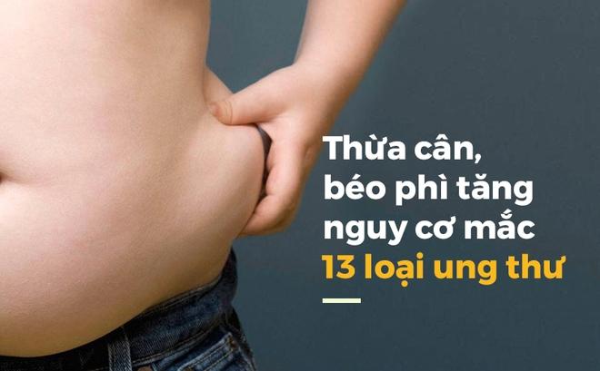 Phát hiện chấn động: 40% bệnh ung thư liên quan đến thừa cân béo phì