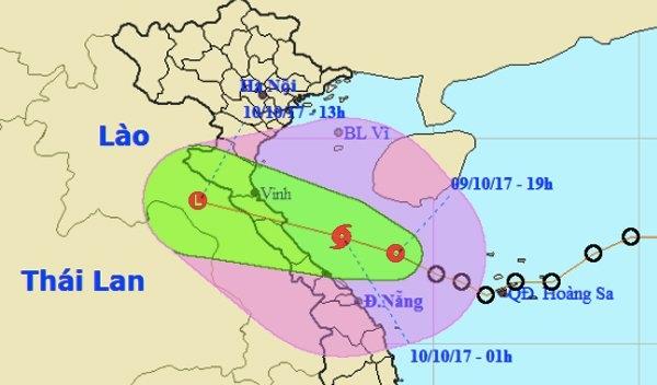 dự báo thời tiết, tin thời tiết, áp thấp nhiệt đới, tin áp thấp nhiệt đới