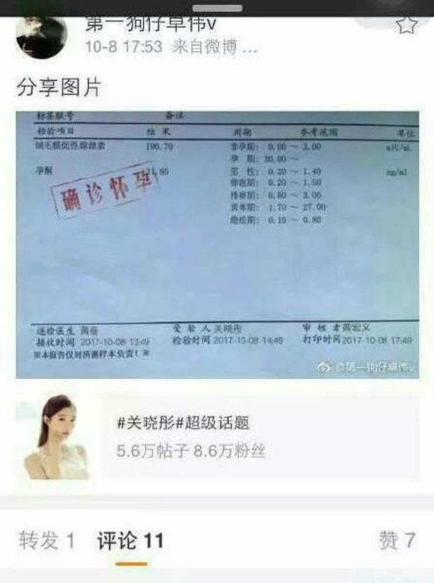 Trác Vỹ gây sốc khi tung bằng chứng: Chưa kết hôn, bạn gái kém 7 tuổi của Luhan đã có thai - Ảnh 2.