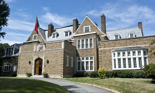 Đại sứ quán Bồ Đào Nha tại Washington, Mỹ. Ảnh: Wikimedia Commons.
