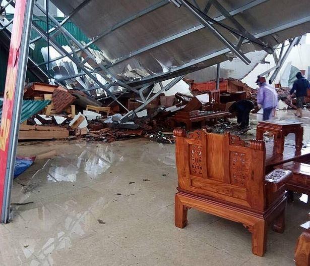 Lốc xoáy ở Thái Bình: 4 người bị thương, nhà đổ sập, tốc mái - Ảnh 3.
