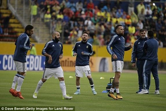 Cầu thủ Argentina quyết tâm cao độ trước trận đấu