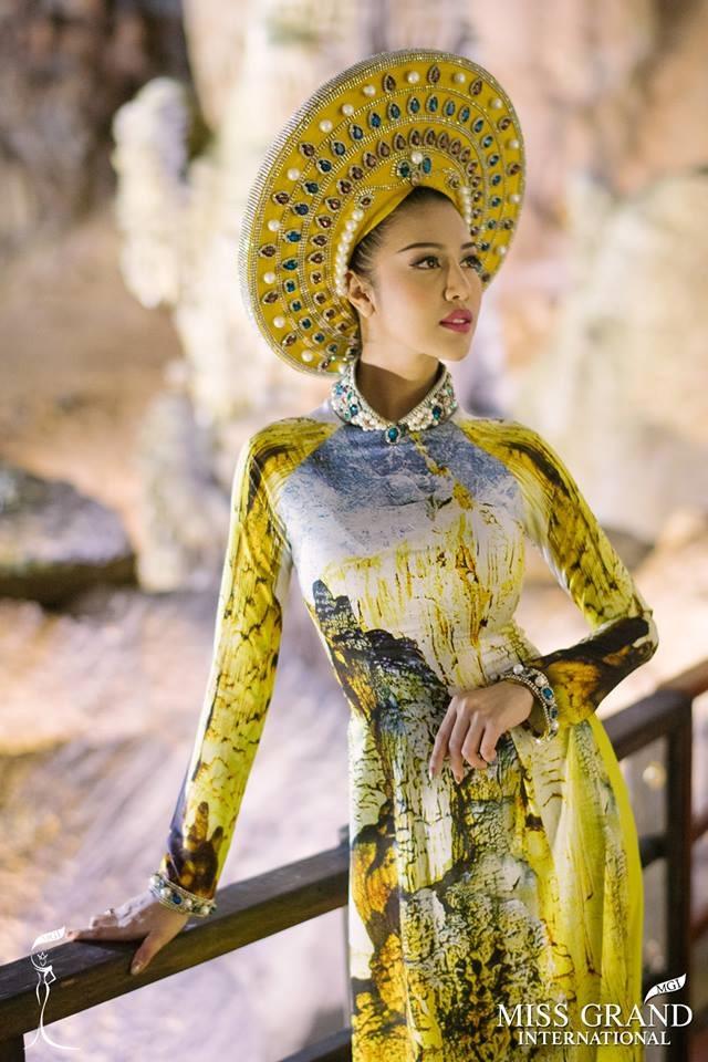 Thi sinh Hoa hau Hoa binh Quoc te chup anh ao dai o dong Thien Duong hinh anh 9