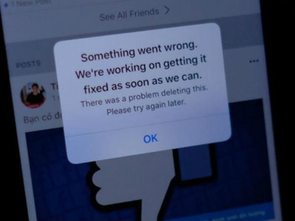 Facebook gặp sự cố tại VN và nhiều quốc gia