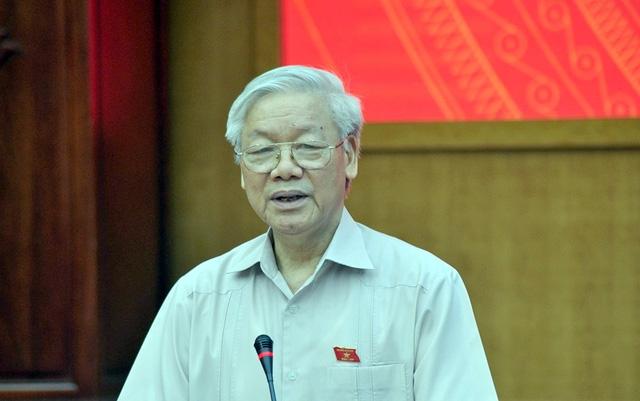 Tổng Bí thư Nguyễn Phú Trọng tiếp xúc cử tri trước kỳ họp thứ tư, Quốc hội khóa XIV