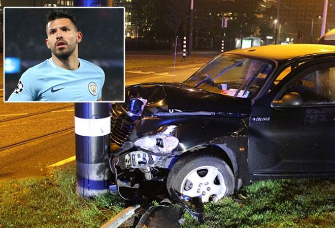 Aguero trở lại thần kỳ sau tai nạn xe hơi