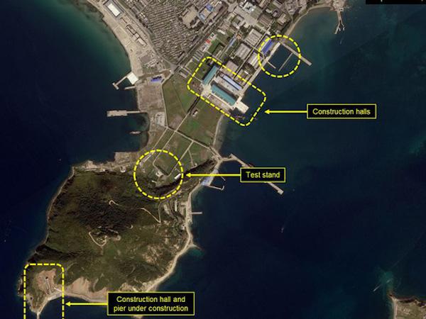 Ảnh vệ tinh hé lộ nơi Triều Tiên phát triển tàu ngầm phóng tên lửa