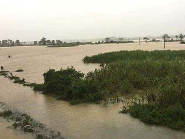 Quản giáo dùng cano đưa cơm cho 700 phạm nhân bị cô lập