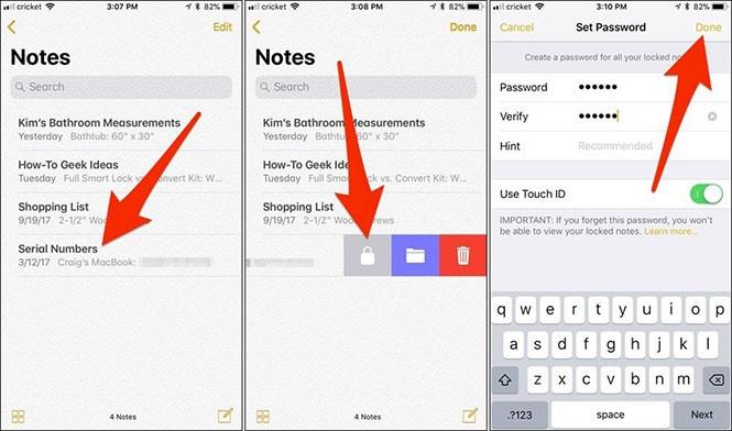 Cách bảo vệ tài liệu Notes bằng mật khẩu cho iPhone - ảnh 1