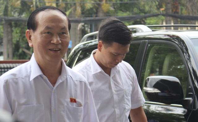 Chủ tịch nước Trần Đại Quang tiếp xúc cử tri TP.HCM - Ảnh 1.