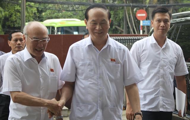 Chủ tịch nước Trần Đại Quang tiếp xúc cử tri TP.HCM - Ảnh 4.