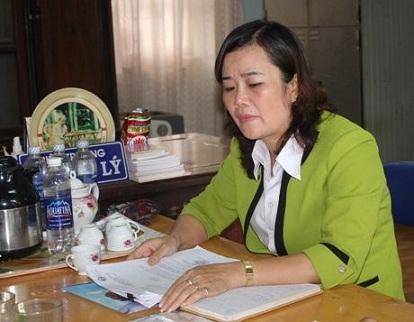 Bà Lưu Thị Lý Hiệu trưởng trường tiểu học Lê Văn Tám