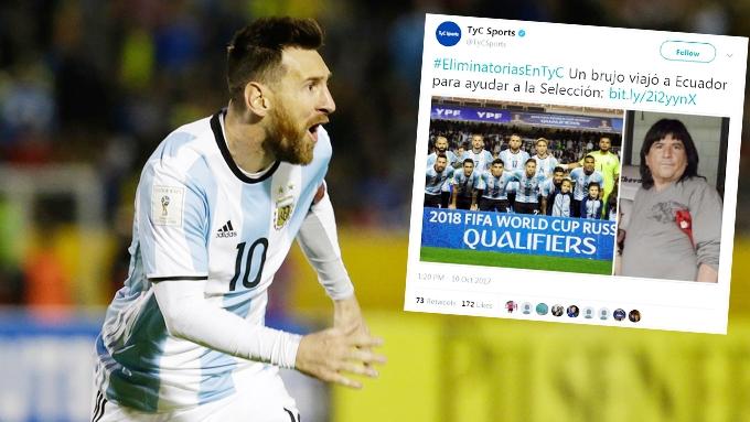 """Messi """"sung"""" nhờ được… pháp sư tiếp sức"""