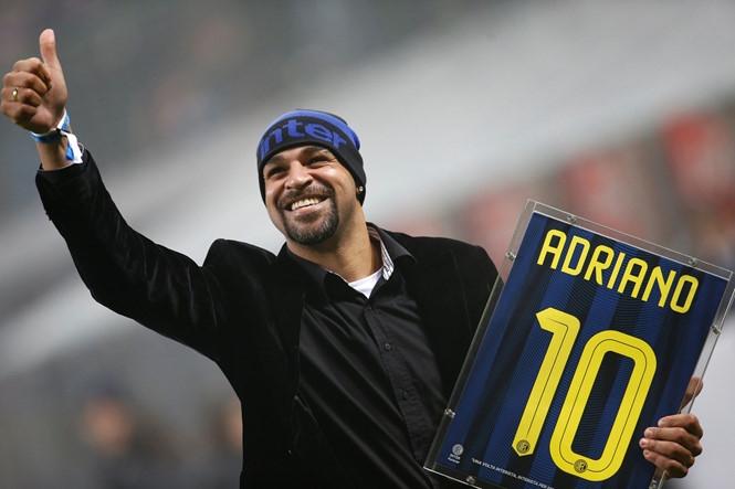 Adriano tìm đường trở lại với bóng đá sau những năm tháng mất bóng /// AFP