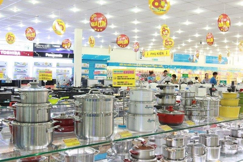 hàng điện máy, khuyến mãi, đồ gia dụng, siêu thị điện máy, kinh doanh điện máy, hàng tồn kho, đại hạ giá, mua hàng giảm giá