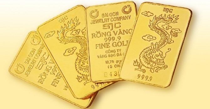 Giá vàng SJC đảo chiều giảm phiên đầu tuần