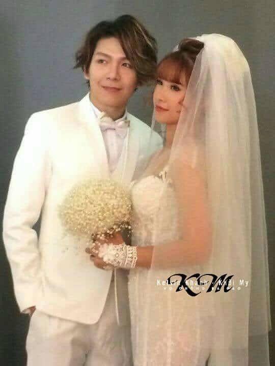 HOT: Khởi My e ấp, Kelvin Khánh để tóc dài lãng tử trong hậu trường chụp ảnh cưới - Ảnh 2.
