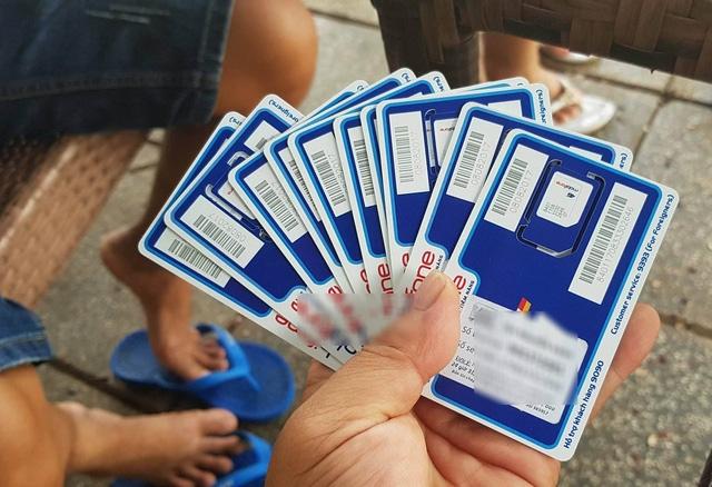 SIM bán tại các điểm công cộng cũng yêu cầu chụp ảnh chân dung và cung cấp thông tin đầy đủ