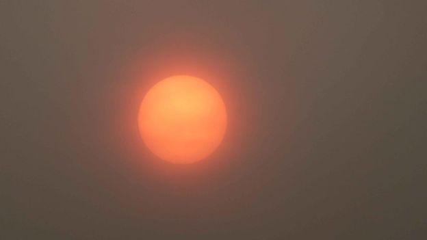Mặt trời đỏ ở Ludlow, Shropshire (Ảnh: LUDFORD SUNSHINE)