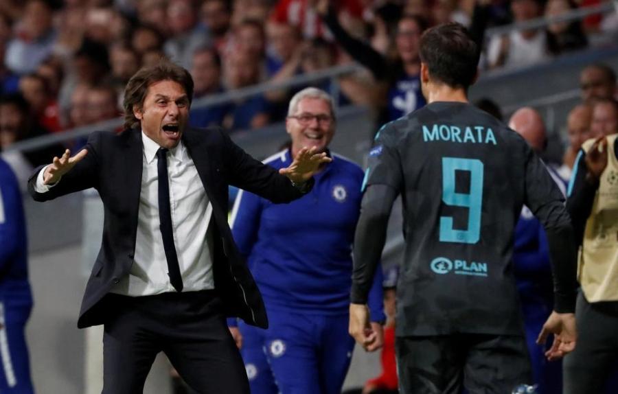 Morata, Chelsea, Conte, AS Roma