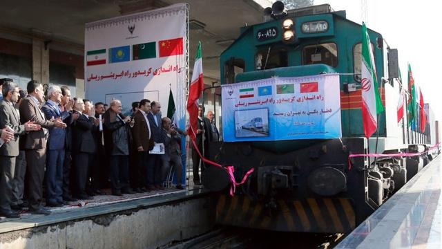 Tàu chở hàng Trung Quốc tới Iran vào tháng 2/2016 (Ảnh: EPA)
