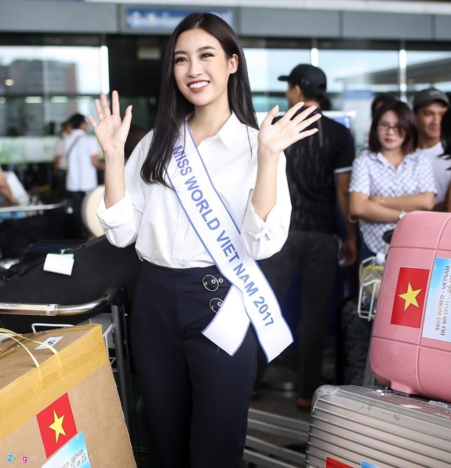 Hoa hau My Linh tuoi tan truoc gio sang Trung Quoc thi Miss World 2017 hinh anh 5