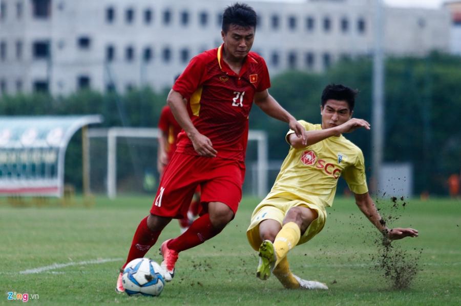 U19 Viet Nam thua trang 5 ban truoc doi tre Ha Noi hinh anh 5