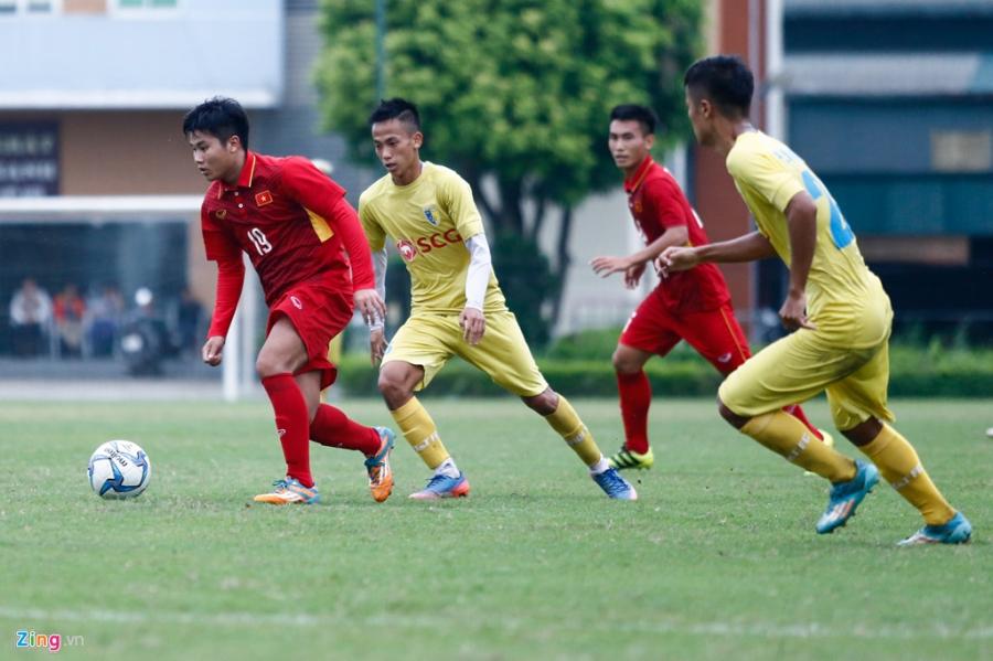 U19 Viet Nam thua trang 5 ban truoc doi tre Ha Noi hinh anh 9