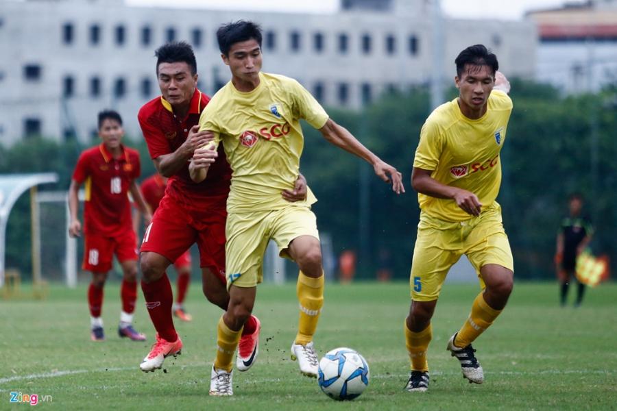 U19 Viet Nam thua trang 5 ban truoc doi tre Ha Noi hinh anh 10