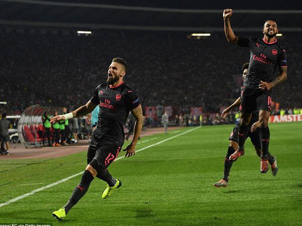 Giroud tiết lộ bất ngờ về siêu phẩm ở Europa League