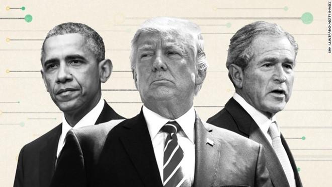 Cuu TT Bush va Obama cung luc chi trich ong Trump hinh anh 1