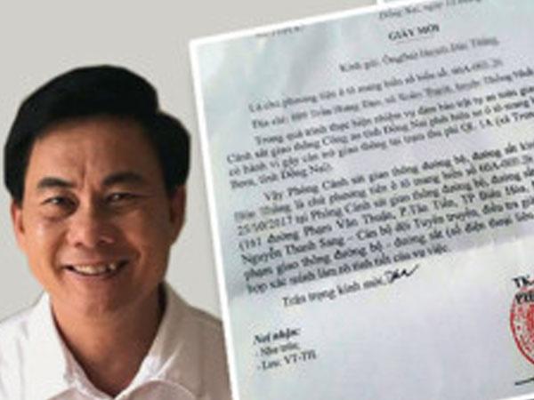 Bộ Công an xác minh Phó phòng CSGT Đồng Nai từng bị kỷ luật