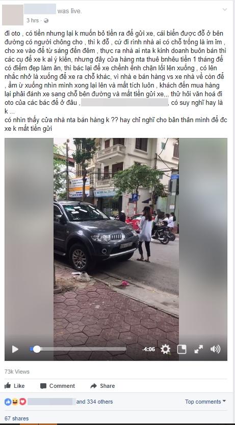 Không xử phạt cô gái trẻ dán băng vệ sinh lên xe ô tô đậu trước cửa nhà gây xôn xao dư luận - Ảnh 3.