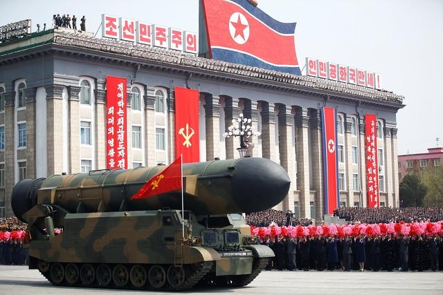 Một buổi lễ duyệt binh của Triều Tiên (Ảnh: Reuters)