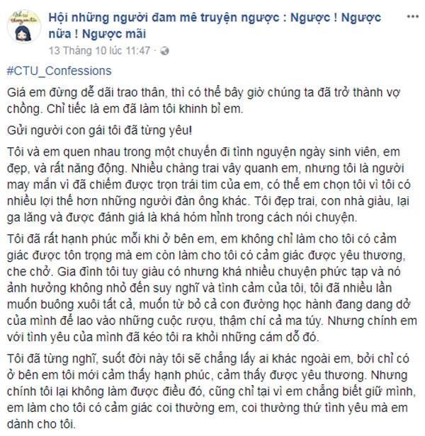"""chang trai len mang reu rao """"ban gai cu de dai trao than"""", quyet cuoi vo con """"tem"""" - 1"""